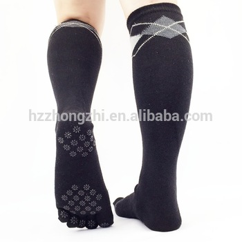 Men Knee High Tube Socks Non Skid Five Toe - Buy Non Skid