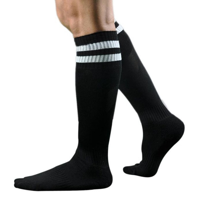Winter Socks Men Long Socks Striped High Cotton and Spandex Over The