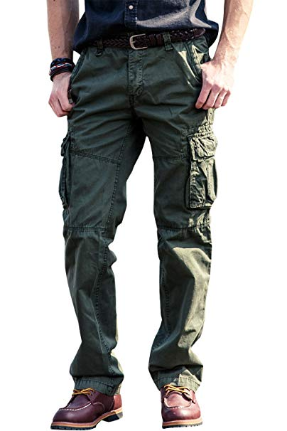 Amazon.com: Mens Wild Cargo Pants Relaxed Fit Casual Cargo Work