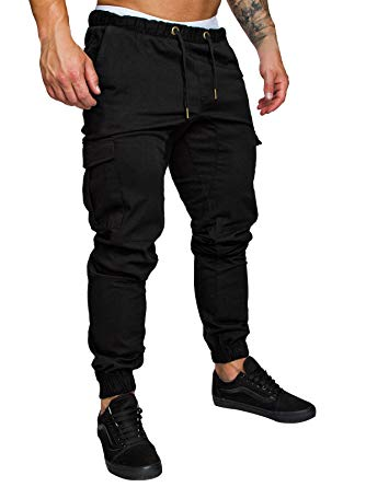 Cindeyar Men's Cargo Pants Slim Fit Casual Jogger Pant Chino