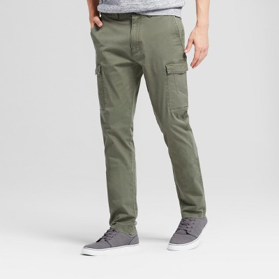 Men's Slim Fit Cargo Pants - Goodfellow & Co™ Olive 32x32 : Target