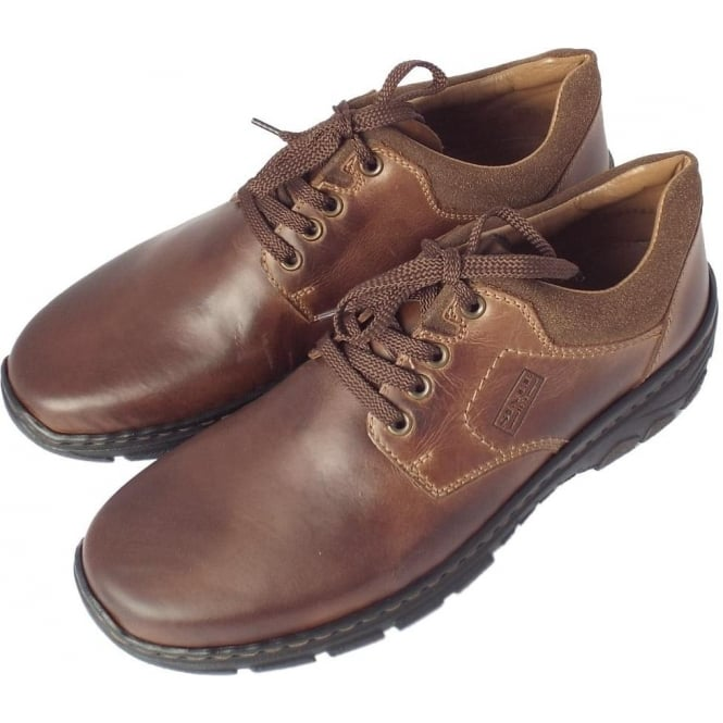 Rieker Maverick 19910-26 | Men's Comfortable Casual Lace Up Brown Shoe