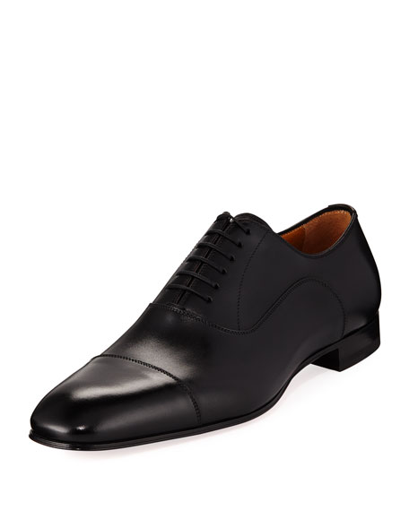 Christian Louboutin Greggo Men's Lace-Up Leather Dress Shoe