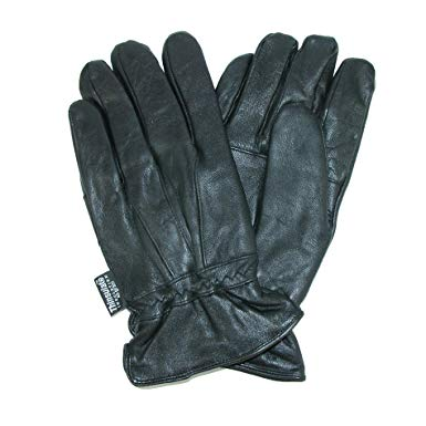 Dorfman Pacific Men's Thinsulate Genuine Lambskin Leather Gloves at