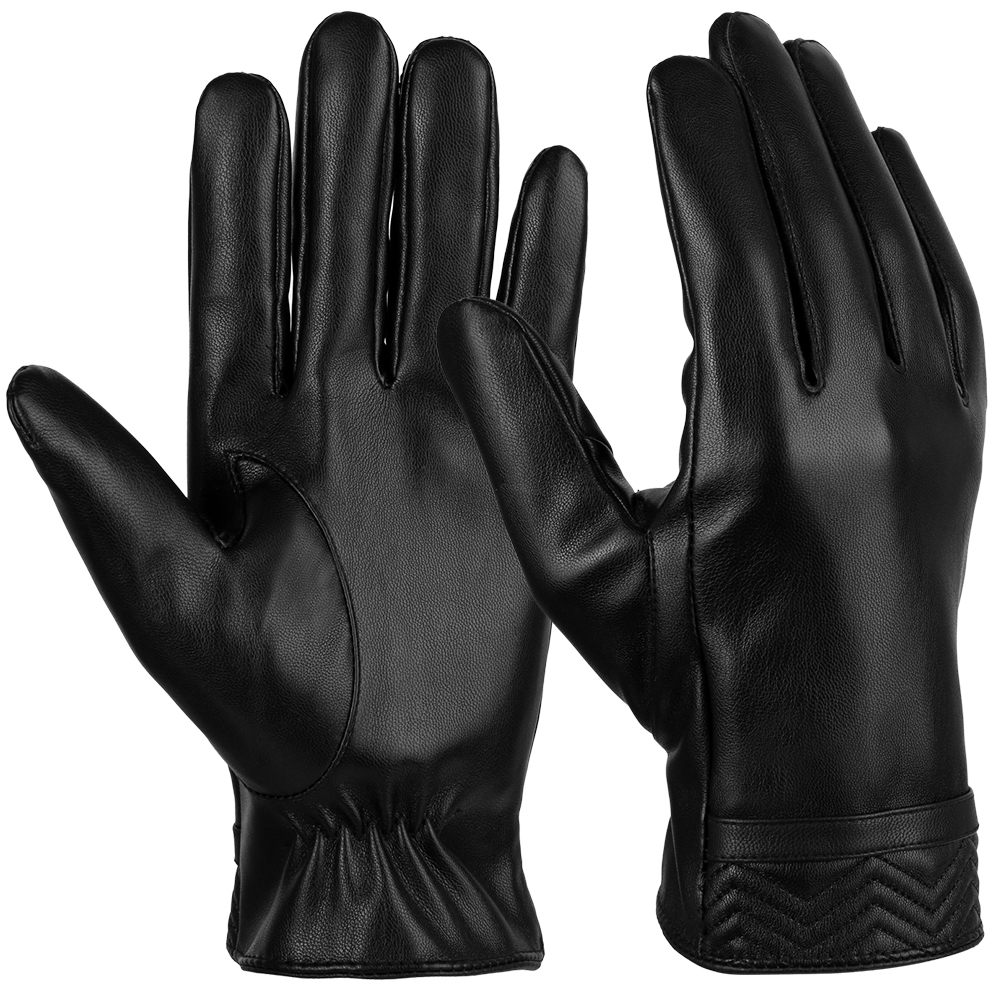 Mens Leather Gloves-Fitbest Mens Leather Gloves Touch Screen Gloves