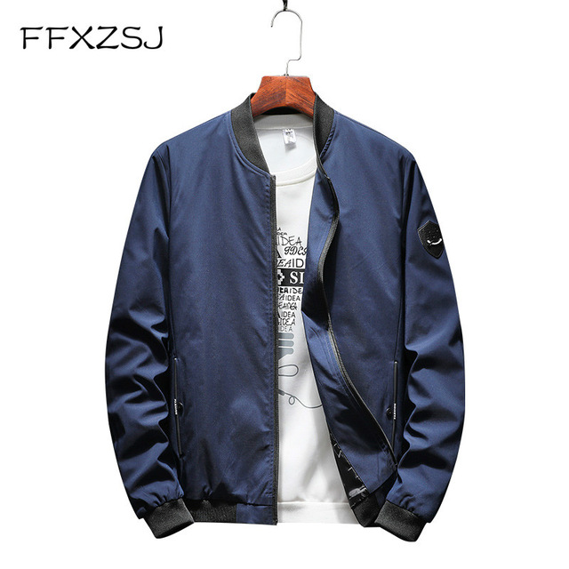 FFXZSJ Brand 2018 fall new baseball collar jacket men's leisure