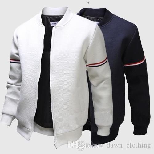 Decorative Ribbon Leisure Jacket Collar Men Trade Men'S Jackets