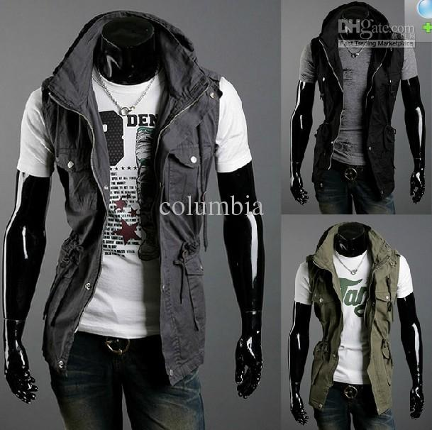 2311# Autumn Men'S Leisure Sleeveless Jacket Men'S Double Collar