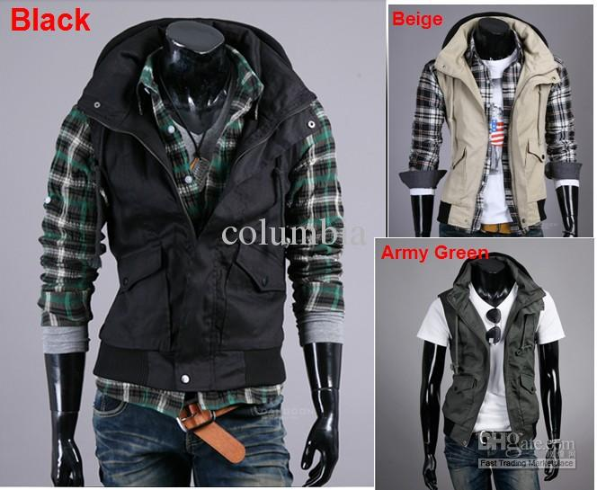 2310# Autumn Men's Leisure Sleeveless Jacket Men's Unique Heap