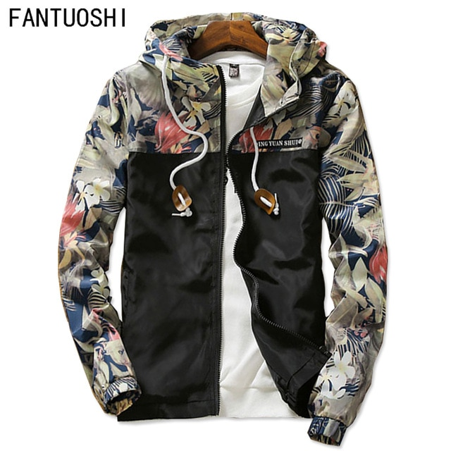 New 2018 men's fashion boutique slim movement hooded jackets coats