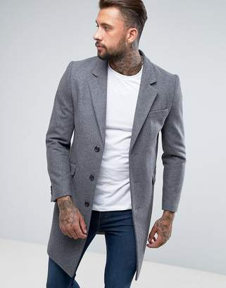 Asos Gray Men's Overcoats And Trenchcoats - ShopStyle