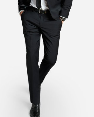 Extra Slim Black Performance Stretch Wool-blend Suit Jacket | Express