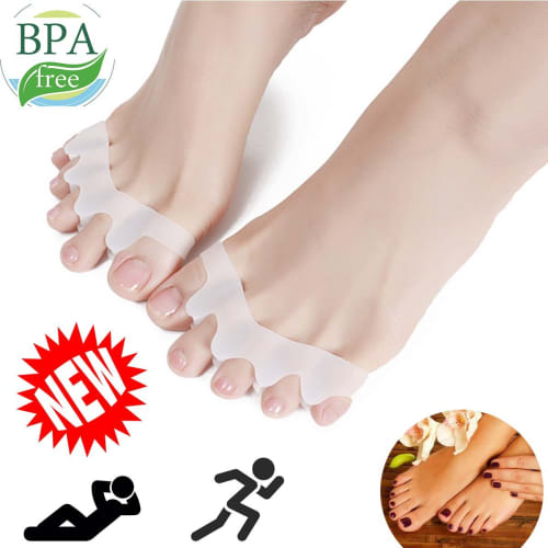 Toe Separators Stretchers Gel Rubber Silicone Toe Spacers Women