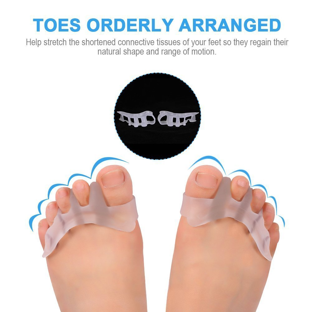 Gel Toe Separator Toe Spacers Toe Stretchers for Men and Women Easy