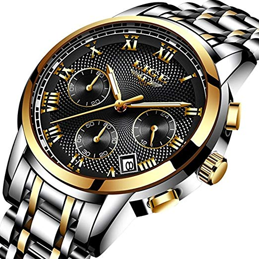 Amazon.com: Mens Watches Waterproof Chronograph Stainless Steel