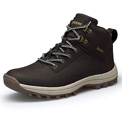 Amazon.com | Lapens Men's Winter Boots Waterproof Leather Outdoor