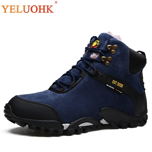 38 46 Men Boots Big Size Men Winter Shoes Plush Warm Anti skidding
