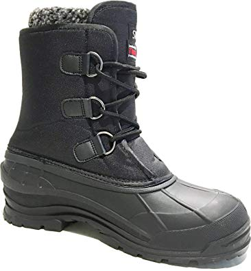 Amazon.com | L&M Men's Winter Snow Boots Shoes Waterproof Insulated