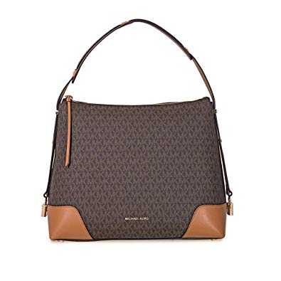 Michael Kors Crosby Large Logo Shoulder Bag BRN/ACORN: Handbags