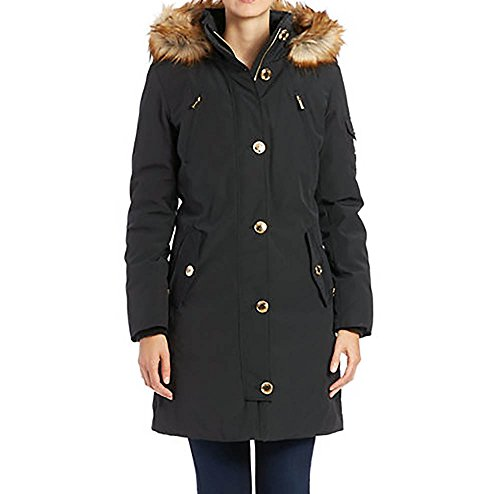 Amazon.com: MICHAEL Michael Kors Women's Down Parka w/Faux Fur Trim