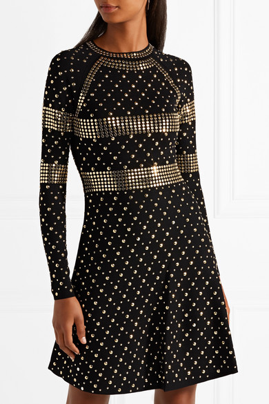 MICHAEL Michael Kors | Studded stretch-knit dress | NET-A-PORTER.COM
