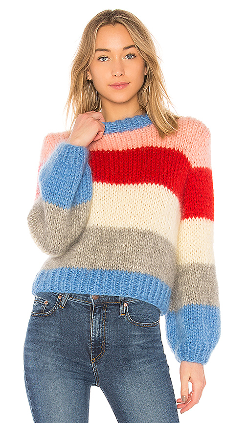 Ganni The Julliard Mohair Sweater in Block Color | REVOLVE