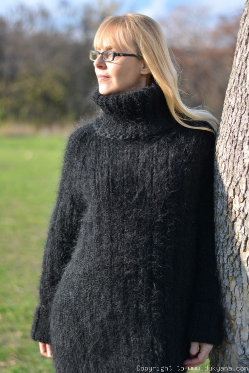 That is why mohair sweaters are so popular with women