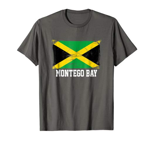 Amazon.com: Montego Bay Vintage Distressed Jamaican Flag T Shirt