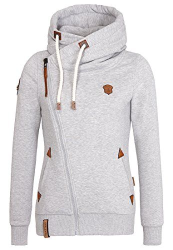 Naketano Women's Zipped Jacket Family Biz II (XS, Grey Melange