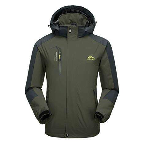 Amazon.com : CRYSULLY Men's Spring Fall Mountain Windproof Hiking