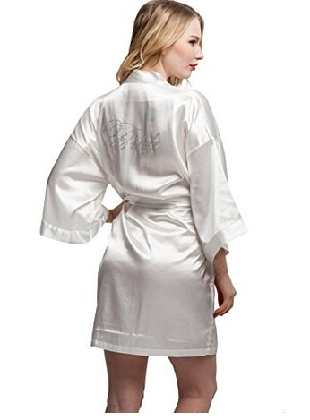 Fashion Silk Bridesmaid Bride Robe Sexy Women Short Satin Wedding