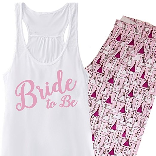 Blushing Bride To Be Pajama Set - Pink, Bride Pajamas, Wedding Pajamas
