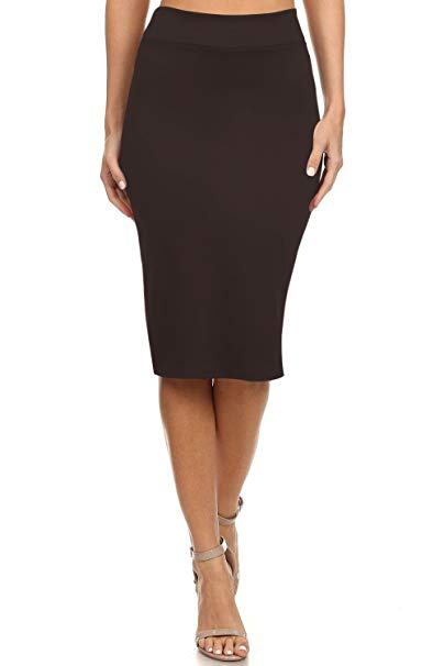 Women's Below the Knee Pencil Skirt for Office Wear - Made in USA at