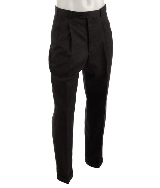 Shop Pierre Cardin Expander Pleated Grey Trousers - Free Shipping On