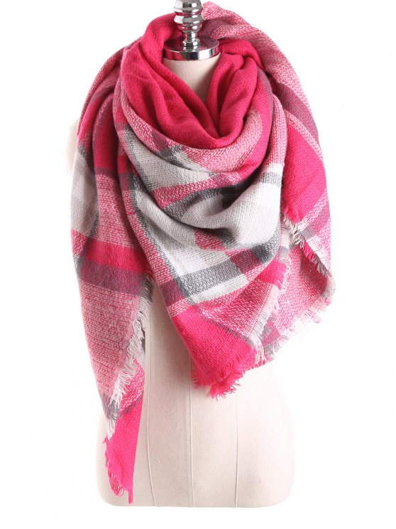 33% OFF] 2019 Tartan Plaid Blanket Shawl Scarf In BRIGHT PINK | ZAFUL