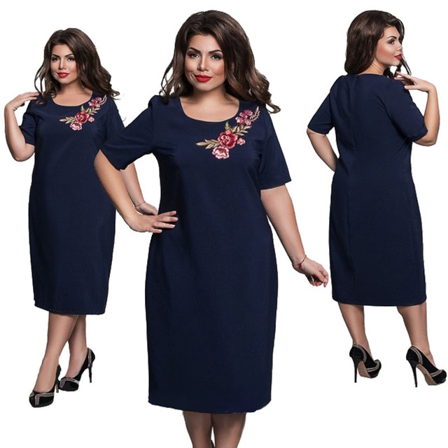 6XL Elegant Ladies Women Dress Fashion Sexy Party Plus Size Maxi