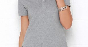 Cute Grey Dress - Pleated Dress - Polo Dress - $79.00