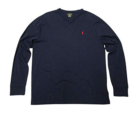 Polo Ralph Lauren Men's V-Neck Long Sleeve T-Shirt Classic Fit