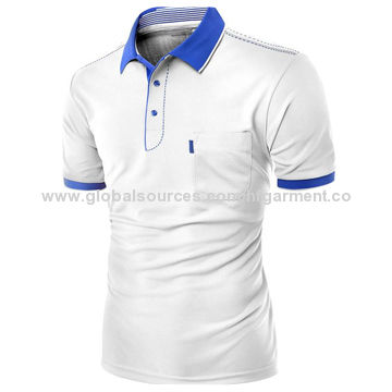 China 100% polyester fashion design,men's polo shirts,chest pockets