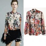 Print blouses with tropical patterns