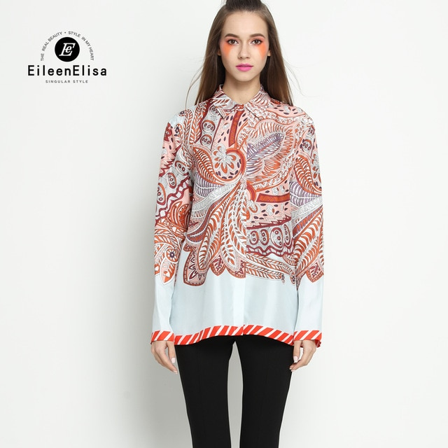Latest Fashion Blouses Printed Blouse Designs Office Blouse Long