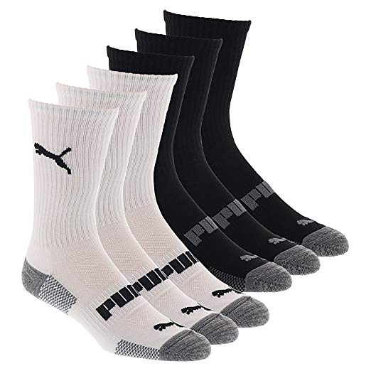 PUMA Men's 6 Pack Crew Socks at Amazon Men's Clothing store:
