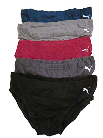 PUMA Mens Sporty Low Rise Briefs 5 Pack at Amazon Men's Clothing store:
