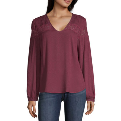 Blouses Purple Tops for Women - JCPenney