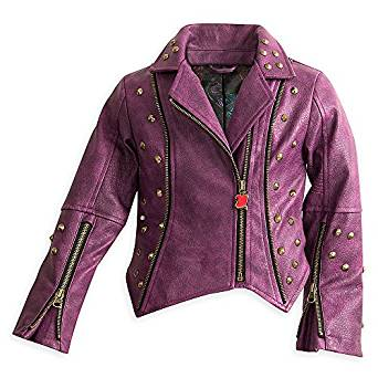 Amazon.com: Disney Descendants Faux Leather Moto Jacket for Girls