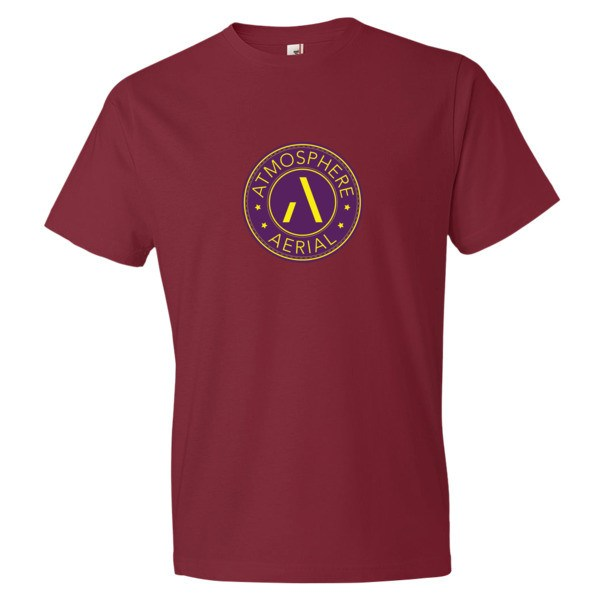 Purple and Gold Atmosphere Logo Short sleeve t-shirt | Atmosphere