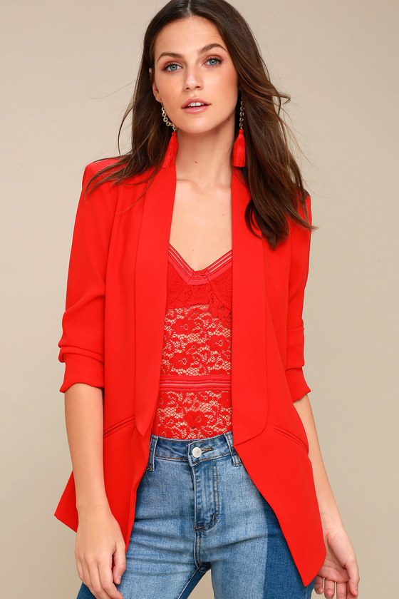 RED BLAZERS -They are classics of women's fashion