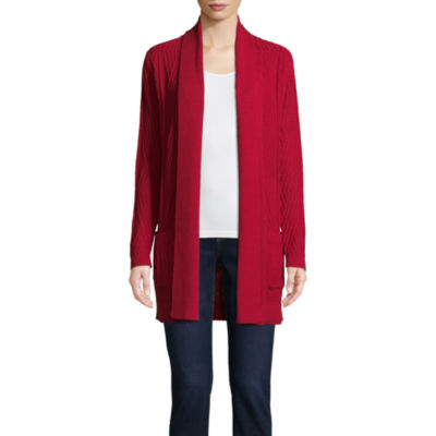 Red cardigan – the ideal companion in autumn and winter
