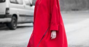 Autumn Red Cashmere Coat, Red Woman Coat, Trendy Coat | Advertise