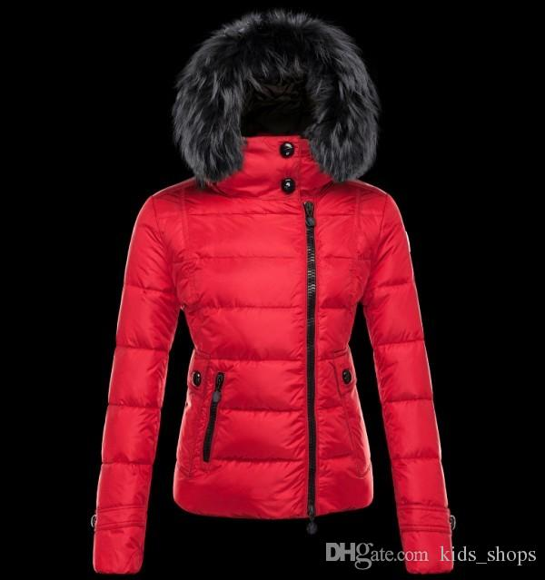 Down jacket in red: Bright color to white background
